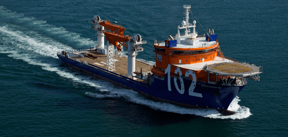 Offshore construction Vessels References - North Ocean 102