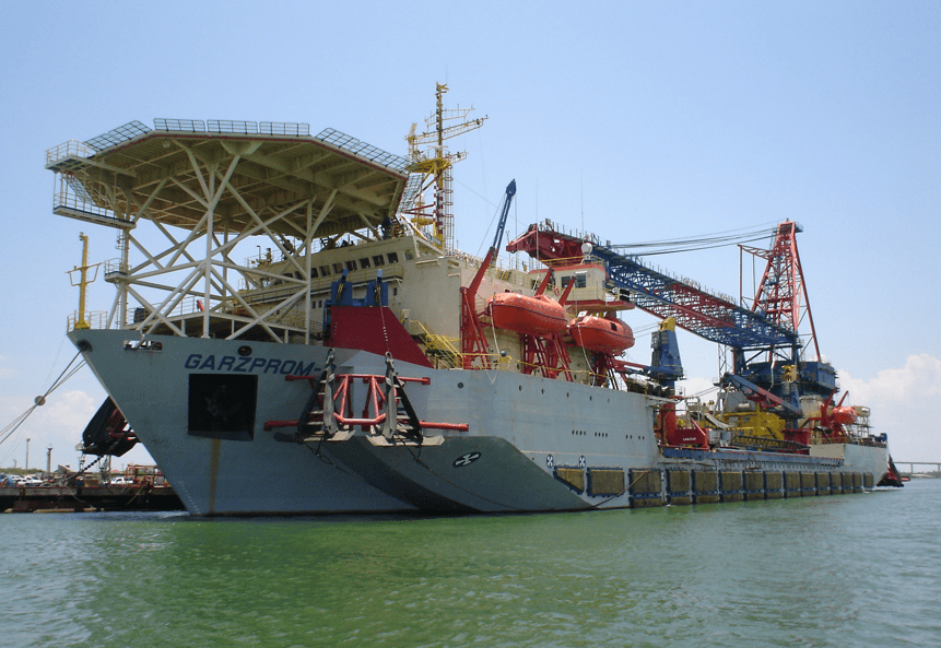 crane vessels references - garzprom II